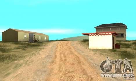 Área en el desierto para GTA San Andreas