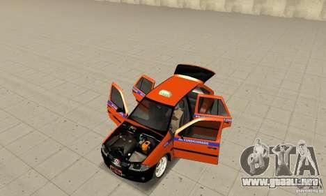 Volkswagen Gol G4 Taxi para GTA San Andreas vista hacia atrás