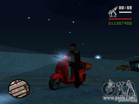 McDonalds Pizzaboy para la visión correcta GTA San Andreas