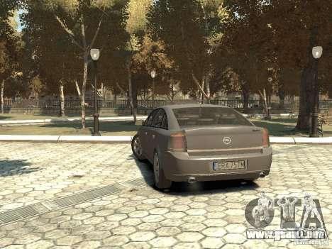 Opel Vectra para GTA 4 Vista posterior izquierda