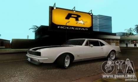 Chevrolet Camaro SS 1967 para la visión correcta GTA San Andreas