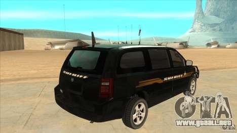 Dodge Caravan Sheriff 2008 para la visión correcta GTA San Andreas