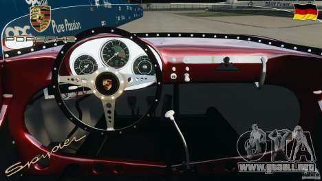 Porsche 550 A Spyder 1956 v1.0 para GTA 4 vista hacia atrás