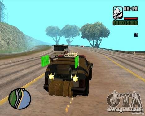 Máquina de auto-muerte muerte para GTA San Andreas quinta pantalla