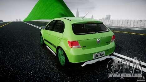 Volkswagen Gol Rallye 2012 v2.0 para GTA 4 Vista posterior izquierda