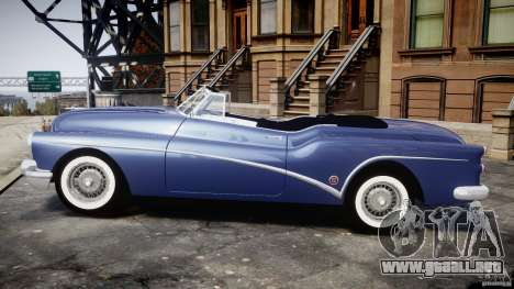 Buick Skylark Convertible 1953 v1.0 para GTA 4 Vista posterior izquierda
