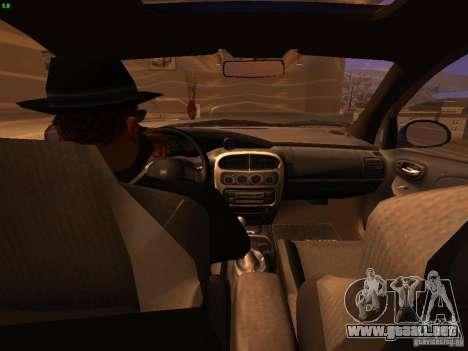 Dodge Neon SRT4 2006 para visión interna GTA San Andreas
