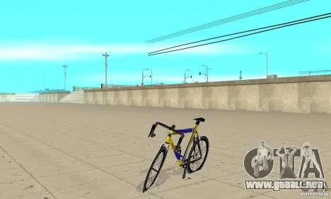 Racing Cycle Turmac Legnano para GTA San Andreas left
