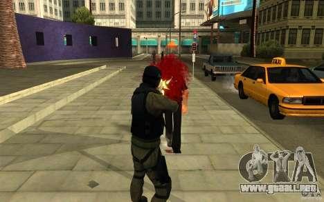Fuerzas especiales-CJ para GTA San Andreas quinta pantalla