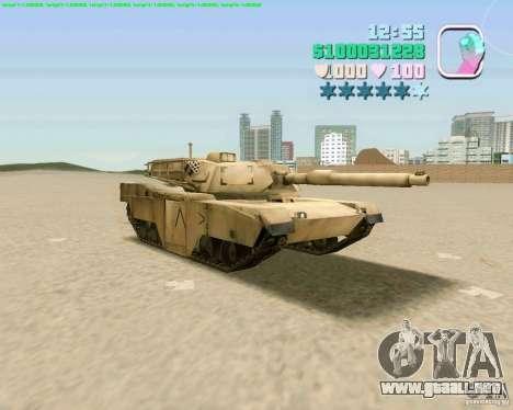 M 1 A2 Abrams para GTA San Andreas vista posterior izquierda