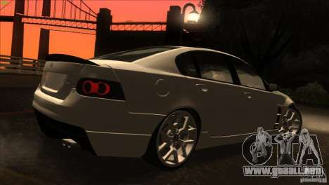 Holden HSV W427 para vista lateral GTA San Andreas
