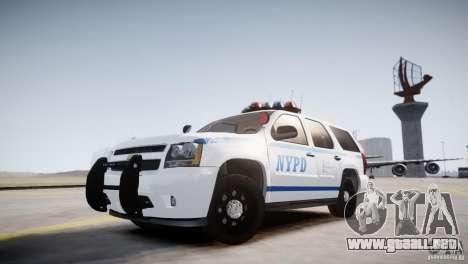 Chevrolet Tahoe 2012 NYPD para GTA 4