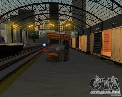 Nueva estación de ferrocarril para GTA San Andreas octavo de pantalla