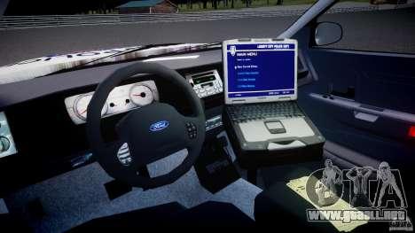 Ford Crown Victoria Karachi Traffic Police para GTA 4 visión correcta