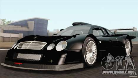 Mercedes-Benz CLK GTR Race Car para GTA San Andreas vista hacia atrás