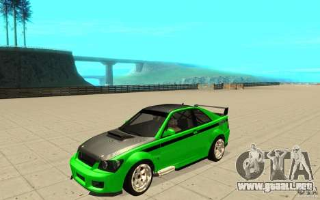GTA IV Sultan RS FINAL para la vista superior GTA San Andreas