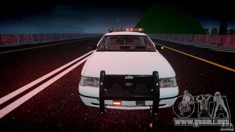 Ford Crown Victoria v2 NYPD [ELS] para GTA 4 vista desde abajo