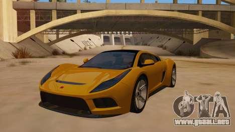 Saleen S5S Raptor 2010 para GTA San Andreas vista hacia atrás