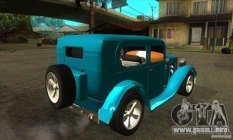 Ford A 1928 Hotrod para la visión correcta GTA San Andreas