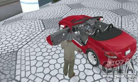 Mercedes-Benz SLK 350 para GTA San Andreas vista hacia atrás
