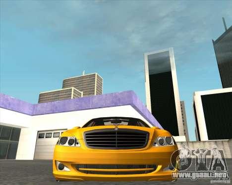 Mercedes Benz S600 Panorama by ALM6RFY para la visión correcta GTA San Andreas