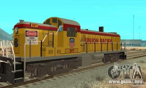 RS3 Diesel locomotor Union Pacific para GTA San Andreas vista posterior izquierda