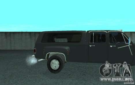 Chevrolet Silverado 3500 para GTA San Andreas interior