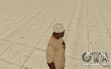 Bandana shamal para GTA San Andreas segunda pantalla