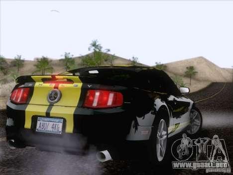 Ford Shelby Mustang GT500 2010 para la vista superior GTA San Andreas