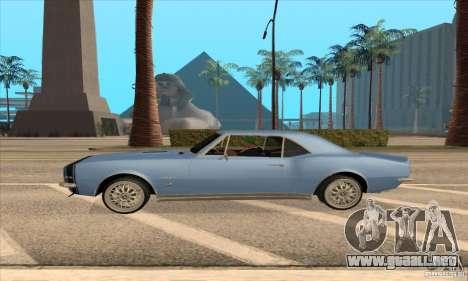 Chevrolet Camaro SS 1967 para GTA San Andreas vista posterior izquierda