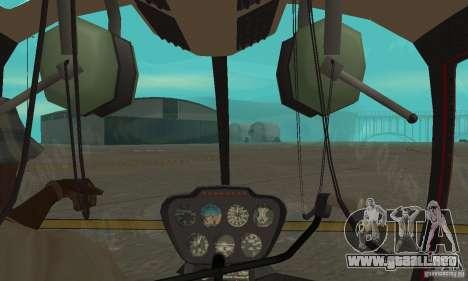 Robinson R44 Raven II NC 1.0 piel 1 para GTA San Andreas vista hacia atrás