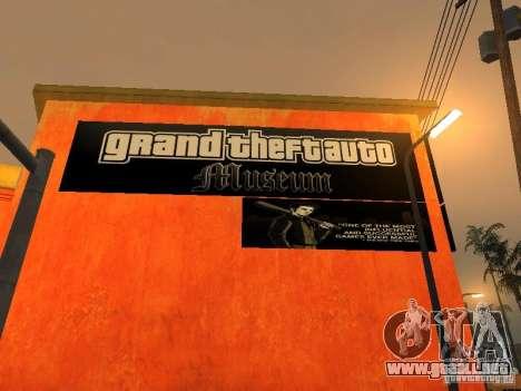 GTA Museum para GTA San Andreas segunda pantalla