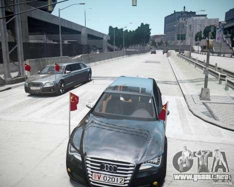 Audi A8 Limo para GTA 4 vista desde abajo