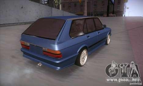 BMW E28 Touring para GTA San Andreas vista hacia atrás