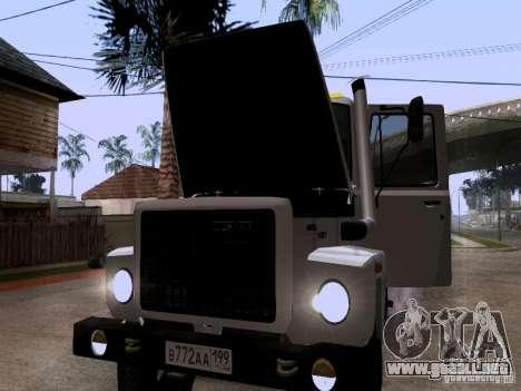 GAZ 3309 grúa para vista lateral GTA San Andreas