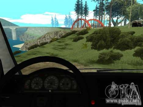 GAZ 2217 FSB para GTA San Andreas vista hacia atrás