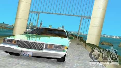 Lincoln Town Car 1997 para GTA Vice City vista posterior