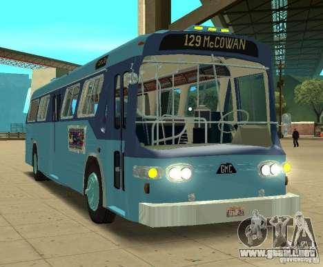 GMC Fishbowl City Bus 1976 para GTA San Andreas left