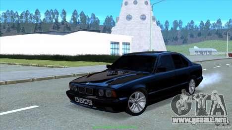 BMW E34 V1.0 para GTA San Andreas vista hacia atrás