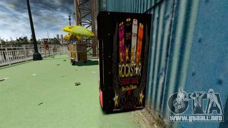 Rockstar bebida energética» para GTA 4 segundos de pantalla
