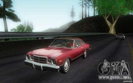 Plymouth Volare Coupe 1977 para GTA San Andreas left
