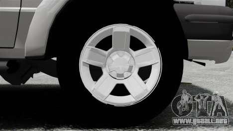 Ford Ranger 2008 XLR para GTA 4 vista hacia atrás