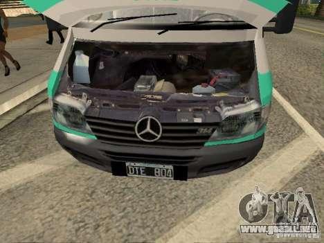Mercedes Benz Sprinter SAME para la visión correcta GTA San Andreas