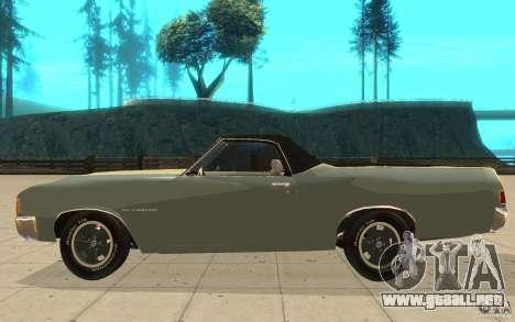 Chevrolet El Camino 1972 para GTA San Andreas left