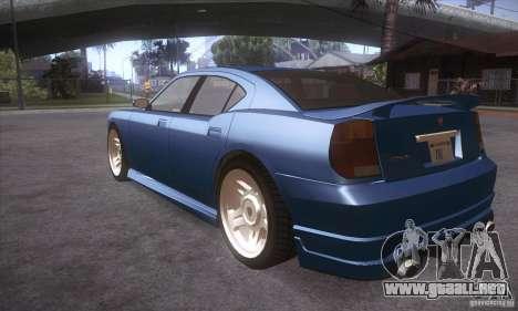 GTA IV Buffalo para GTA San Andreas vista posterior izquierda