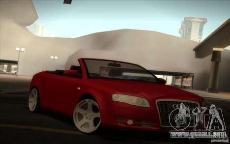 Audi A4 Cabrio para GTA San Andreas left