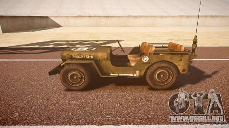 Walter Military (Willys MB 44) v1.0 para GTA 4 left