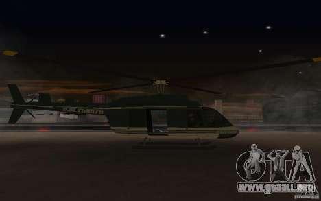 GTA IV Maverick para GTA San Andreas vista posterior izquierda
