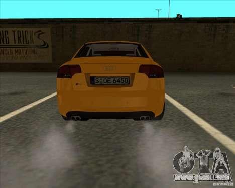 AUDI S4 Sport para GTA San Andreas vista posterior izquierda