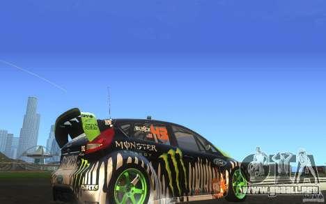 Ford Fiesta Gymkhana para GTA San Andreas vista hacia atrás